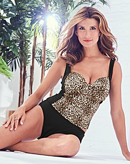 Animal Print Tankini Top