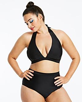 Black Halterneck Bikini Top