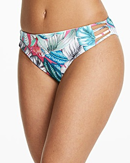 Palm Print Hipster Bikini Bottoms