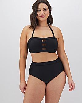 Black Multiway Bandeau Bikini Top