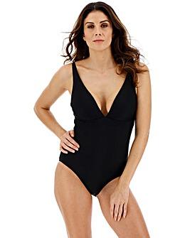 Plunge Neck Black Swimsuit