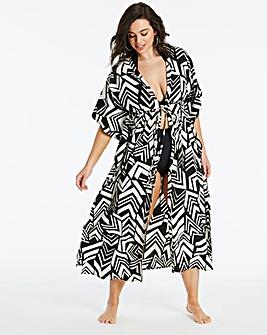 Geo Print Maxi Kimono