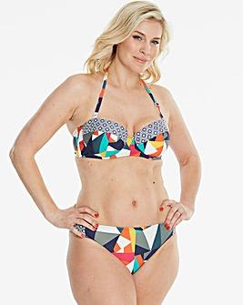 Geo Print Bandeau Bikini Top