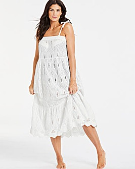 Broderie Anglais Maxi Beach Dress