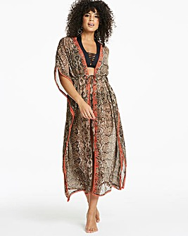 Simply Yours Tie Front Maxi Kaftan