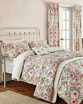 Sanderson Amelia Rose Lined Curtains