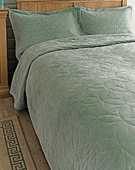 Velvet Bedspread Set