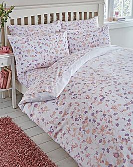 Floral Flannelette Duvet Cover Set