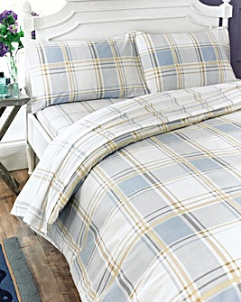 Check Flannelette Flat Sheet