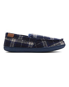 Checked Moccasin Slipper