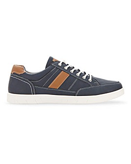 Lace Up Contrast Sole Trainer Std Fit