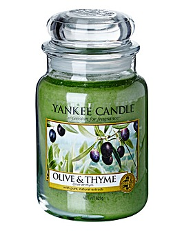 Yankee Candle Olive & Thyme Large Jar