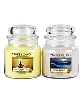 Yankee Candle Set of Two Medium Jar