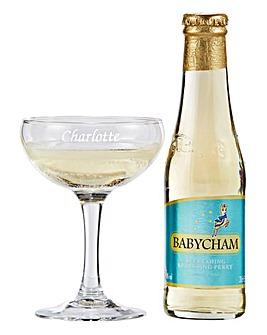 Personalised Babycham Set