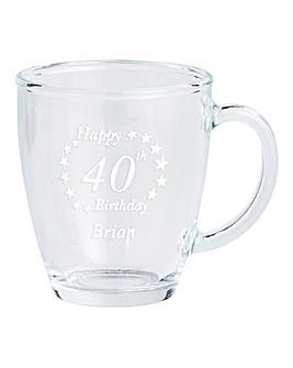 Personalised Birthday Glass Mug