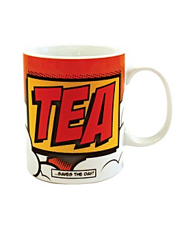 Comic Book Tea Porcelain Mug
