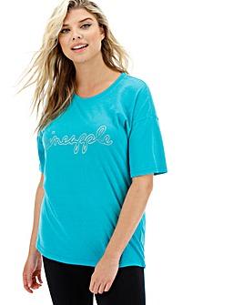 Pineapple Oversized Foil T-Shirt