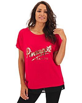 Pineapple Mesh Hem T-Shirt