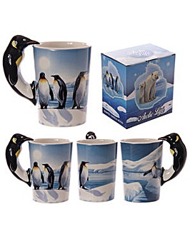 Shaped Handle Novelty Mug - Penguin