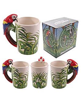 Shaped Handle Novelty Mug - Parrot