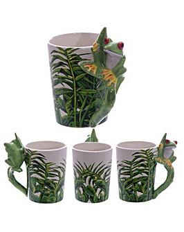 Shaped Handle Novelty Mug - Tree Frog