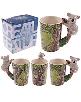 Shaped Handle Novelty Mug - Koala