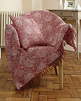 Paisley Jacquard Cotton Throwover 2 Pack