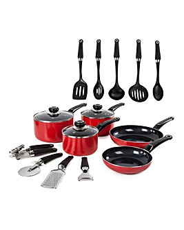 Morphy Richards Equip 5pc Panset Red with 9 FREE Tools