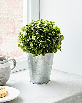 Artificial Topiary in Silver Pot