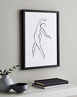Nude Dance Lines Wall Art