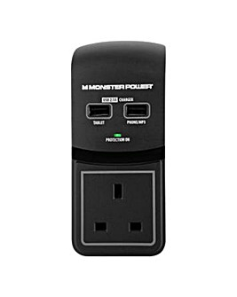 Monster Power  1 Socket Surge Pro+USB