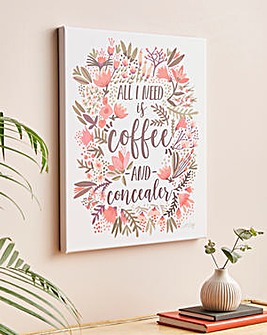 Coffee and Concealer Canvas