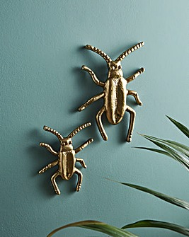 Set of 2 Beetle Ornaments