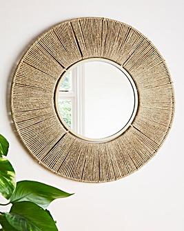 Lisbon Natural Circle Mirror