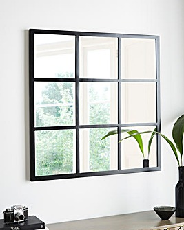 Black Square Window Mirror