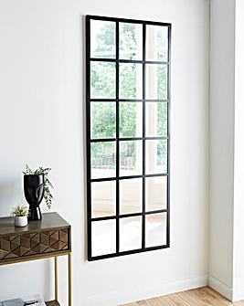 Black Rectangle Window Mirror