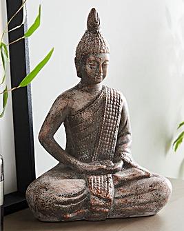 Grey Ceramic Buddha