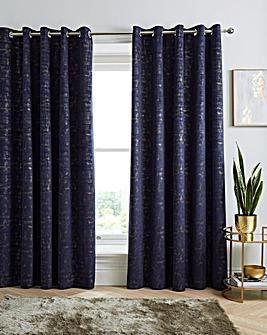 Venice Velvet Thermal Eyelet Curtains