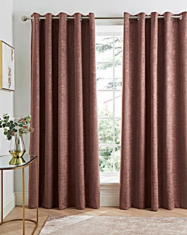 Venice Velvet Thermal Eyelet Curtains