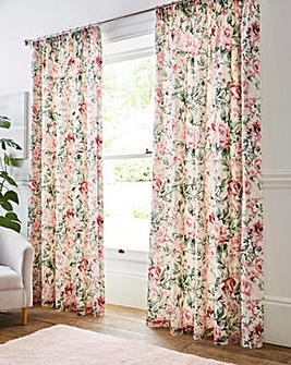 Isabella Floral Pencil Pleat Curtains