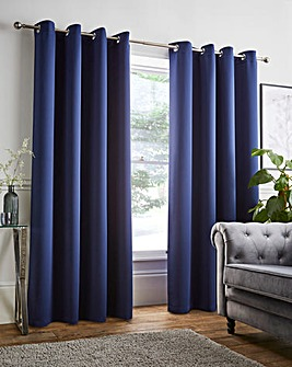 Twilight Woven Eyelet Blackout Curtains