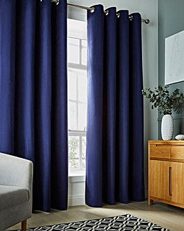 Faux Suede Blackout Eyelet Curtains