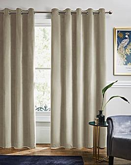 Velour Eyelet Curtains