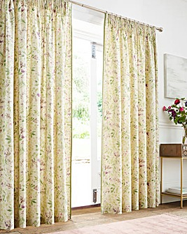 Fusion Stavely Floral Pencil Pleat Curtains