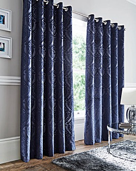 Chateau Jacquard Eyelet Curtains