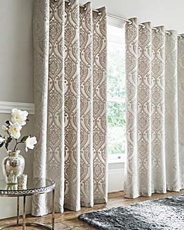 Chateau Jacquard Eyelet Curtains