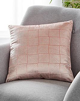Verve Metallic Geo Cushion