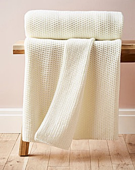 Lightweight Knitted Throw