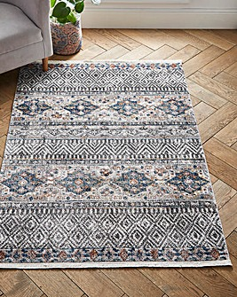 Mandala Grey Stripe Rug