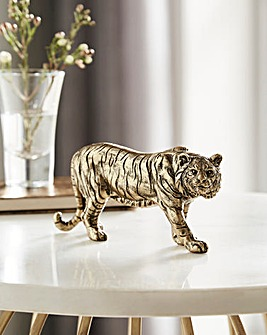 Gold Resin Small Tiger Ornament